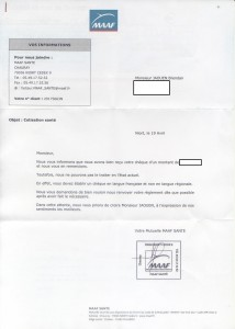 Courrier de la MAAF