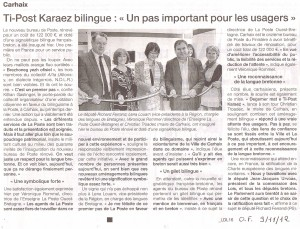 Pennad OF ti-post Karaez - Du 2012