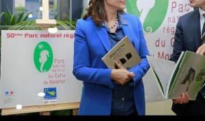 inauguartion plaque parc naturel du golfe du morbihan ministre écologie séné